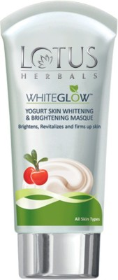 Lotus Herbals White Glow Yogurt Skin Whitening & Brightening Masque 80 g (Pack of 3)(240 g)
