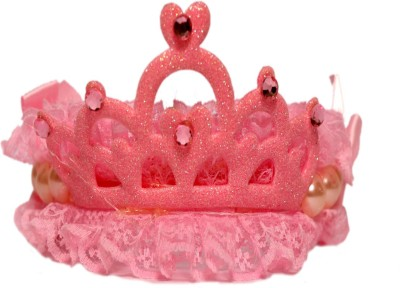 MEE 'N' MYY hair crown Hair Band(Pink)  available at flipkart for Rs.299