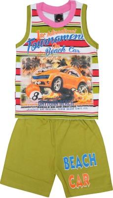 ELK Boys Casual T-shirt Trouser(Green)  available at flipkart for Rs.299