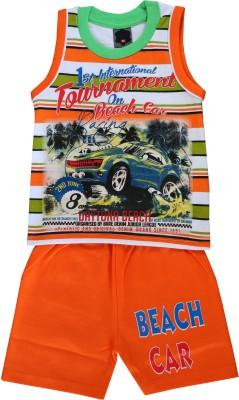 ELK Boys Casual T-shirt Trouser(Orange)  available at flipkart for Rs.299