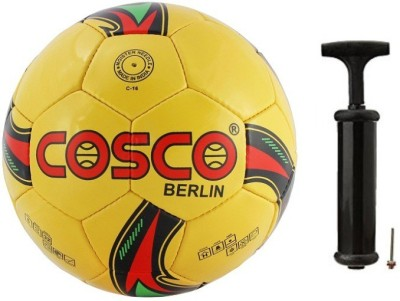 Cosco Berlin Football with Hand Pump- Assorted Football Kit  available at flipkart for Rs.690