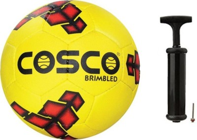 Cosco Brimbled Football with Hand Pump- Assorted Football Kit  available at flipkart for Rs.835