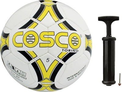 Cosco Torino Football with Hand Pump- Assorted Football Kit  available at flipkart for Rs.749