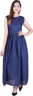 Desier Women Solid Gown Kurta(Blue) Flipkart