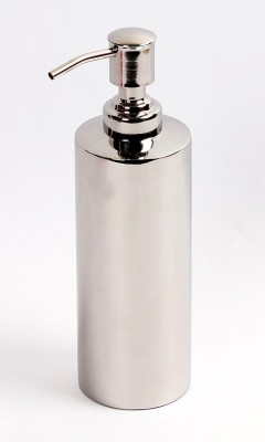Kitsch ITALIA Press Pump Floor Standing Or Wall Mountable Cylindrical Shaped Pure Steel 550 ml Soap Dispenser  available at flipkart for Rs.550