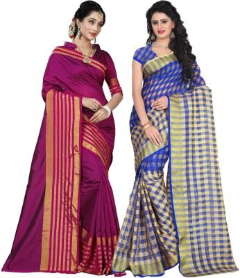 2b58849cb5b98 BAPS Embellished Bollywood Cotton Silk Saree(Pack of 2