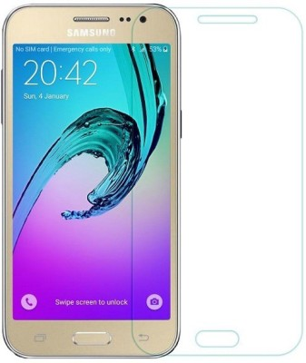 Roxel Tempered Glass Guard for Samsung Galaxy J2-2017 (Metallic gold, 8 GB) (1 GB RAM)(Pack of 1)