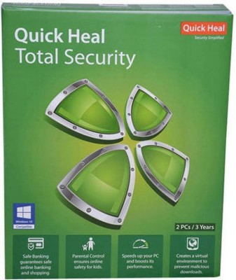 QUICK HEAL TOTAL SECURITY 2 PCs 3 YEAR