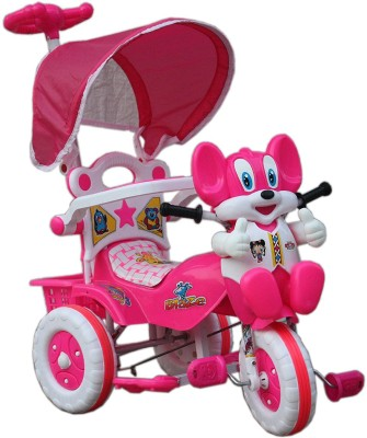 Babyjoys Baby Tricycle with Parental Control, Pink Tricycle(Pink)