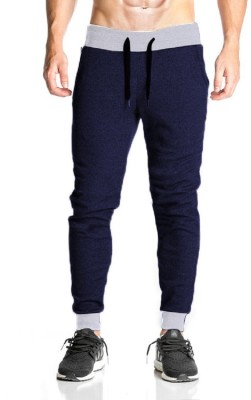 THE ARCHER Solid Men Dark Blue Track Pants