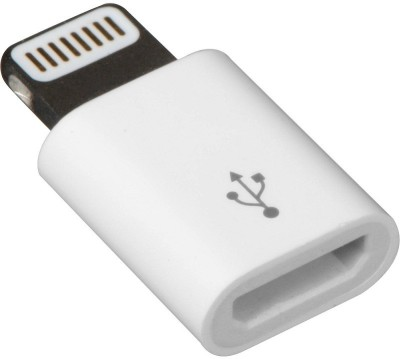 Adnet Micro to 8 PIN Lightning Charger Converter USB Adapter(White) at flipkart