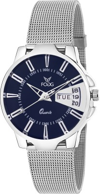 Fogg 4047-BL Day And Date Analog Watch For Women