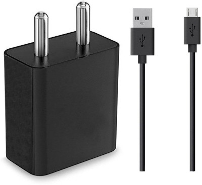 ShopReals USB Charging Data Cable 2 Amp 2 A Mobile Charger with Detachable Cable Black