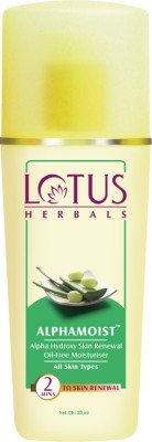 Lotus Herbals ALPHAMOIST skin renewal moisturiser 80ml (pack of 2)(160 ml)