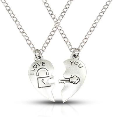 Fabfashion Heart-Shape lock & Key Lovers' Pendant Platinum Alloy Pendant  available at flipkart for Rs.99