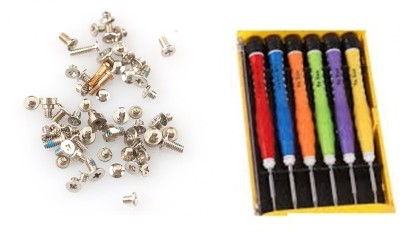 WOWSOME USED FOR I PHONE 5/ 6/ 6S REPLACEMENT SCREW SET Combination Screwdriver Set(Pack of 6)  available at flipkart for Rs.225