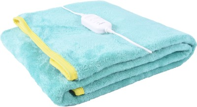 selective Plain Single Electric Blanket Green(1 Blanket)  available at flipkart for Rs.849