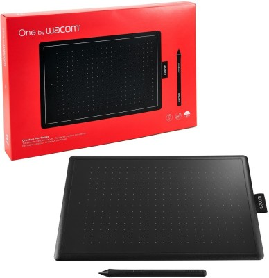WACOM One By CTL-472/K0-CX 6 x 3.7 inch Graphics Tablet(Black, Red)  available at flipkart for Rs.3850