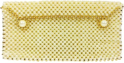 Addyz Ethnic Wedding Marriage Party Pearls Potli Bag Mobile & Coin Cover Keeps Mobile Phone of 5.5inch Upto Mobile Pouch(Beige)  available at flipkart for Rs.425