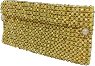 Addyz Ethnic Wedding Marriage Party Pearls Potli Bag Mobile & Coin Cover Keeps Mobile Phone of 5.5inch Upto Mobile Pouch(Gold)  available at flipkart for Rs.445