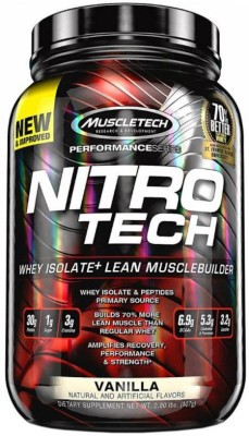 Muscletech Performance Series Nitrotech Whey Protein(907 g, Vanilla)