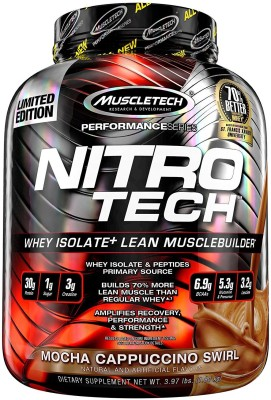 Muscletech Performance Series Nitrotech Whey Protein(1.80 kg, Mocha Cappucino Swirl)