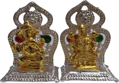 VINTAN Religious God Laxmi Ganesh/Lord Lakshmi Ganesha /Ganpati idol Handicraft Statue-Home Room Office Temple Mandir Murti Car Dashboard Decor Gift item. Showpiece  -  3 cm(Silver Plated, Silver)  available at flipkart for Rs.189