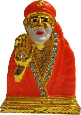 VINTAN Religious God Shirdi sai baba Figurine/Lord Sai Nath idol Handicraft Statue-Home Room Office Temple Mandir Murti Car Dashboard Decor Gift item. Showpiece  -  5 cm(Gold Plated, Gold)  available at flipkart for Rs.259
