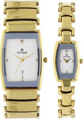 Titan 13772385YM01 Bandhan Analog Watch For Couple
