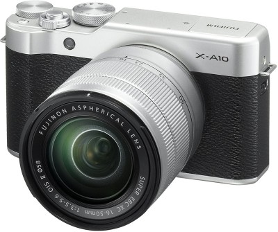 View Fujifilm X-A10 Silver With XC 16-50mm F3.5-5.6 OIS II Lens Mirrorless Camera Kit(Silver)  Price Online