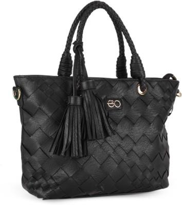 E2O Fashion Women Black Tote at flipkart