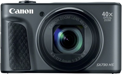 View Canon POWERSHOT SX 730 Point and Shoot Camera(Black 20.3 MP) Camera Price Online(Canon)