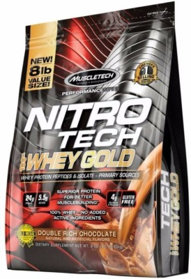 Muscletech Performance Series Nitrotech 100% Whey Gold Whey Protein(3.6 kg, Double Rich Chocolate)