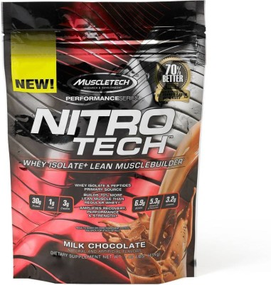 Muscletech Performance Series Nitrotech Whey Protein(454 g, Milk Chocolate)