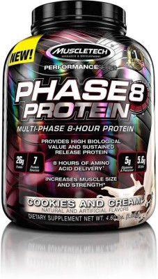 Muscletech Phase 8 Sustained Release Protein (2.04Kg, Cookies and Cream)