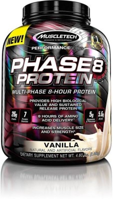 Muscletech Phase 8 Whey Protein (2.04Kg / 4.49lbs, Vanilla)