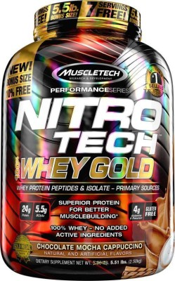 Muscletech Performance Series Nitrotech 100% Whey Gold Whey Protein(2.5 kg, Chocolate Mocha Cappuccino)