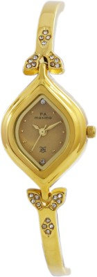 Maxima 22380BMLY Analog Gold Dial Women's Watch