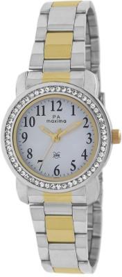 Maxima 43012CMLT Analog White Dial Women's Watch (43012CMLT)