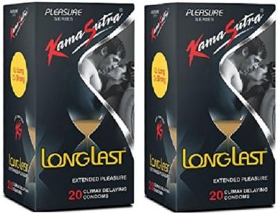 KamaSutra Condom (40 Condom) Condom(Set of 2, 40S)