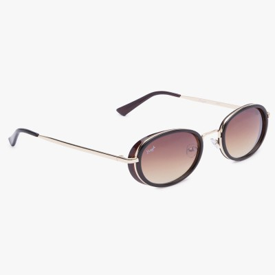 b96a93895f 79% OFF on Gansta Round Sunglasses(Brown) on Flipkart