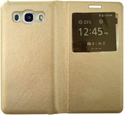 COVERNEW Flip Cover for Samsung Galaxy J7   6  New 2016 Edition  Gold COVERNEW Plain Cases   Covers