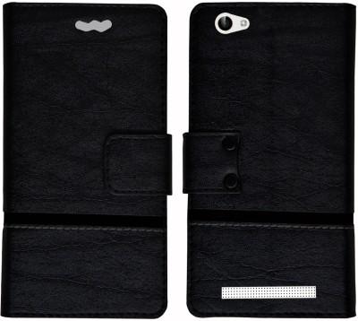 Mysha Flip Cover for Lava A97 4G, Lava A97 4G flip cover, Lava A97 4G Designer Flip cover, Lava A97 4G mobile flip cover(Black)