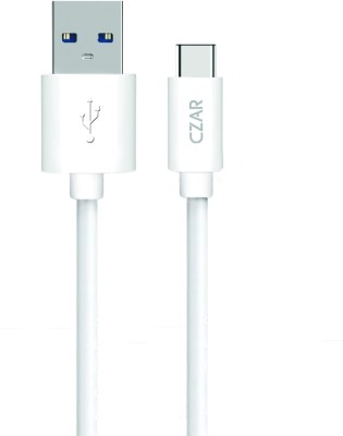 Czar Braided Long Cord USB Type A to C / USB Type-C to USB-A(USB 2.0) USB Type C Cable(Compatible with All Phones With Type C port, White, Sync and Charge Cable) at flipkart