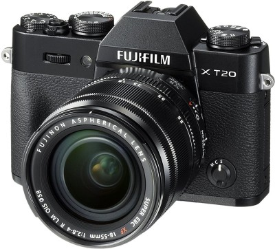 Fujifilm X-T20 Black With XF 18-55 mm F2.8-4.0 R LM OIS Lens Mirrorless Camera Kit(Black)