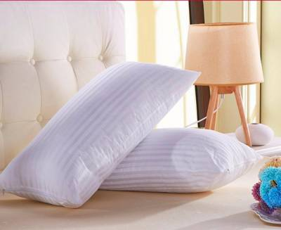 LA VERVE Stripes Bed/Sleeping Pillow Pack of 2