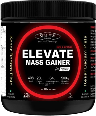 Sinew Nutrition Elevate Mass Gainer with Digestive Enzymes, 300 gm Weight Gainers/Mass Gainers(300 g, Kesar, Pista, Badam)  available at flipkart for Rs.249