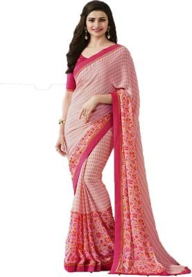 c44266d161330 Lajree Designer Printed Bollywood Chiffon Saree(Multicolor)