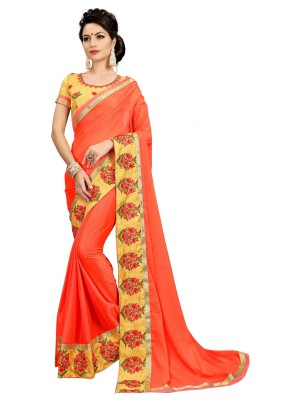 Fashions Bazaar Embroidered Bollywood Faux Georgette Saree(Pack of 2, Multicolor)