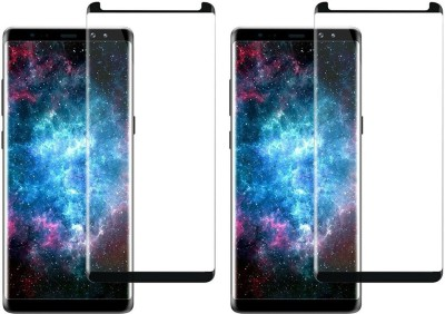Chappie Moustache Tempered Glass Guard for Samsung Galaxy Note 8(Pack of 2)